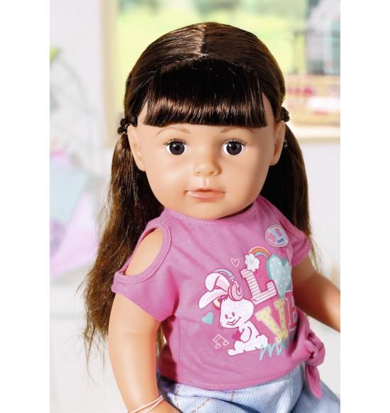 Staršie sestrička BABY born Soft Touch brunetka, 43 cm
