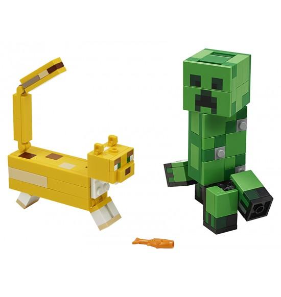LEGO 21156 Veľká figúrka: Creeper™ a Ocelot