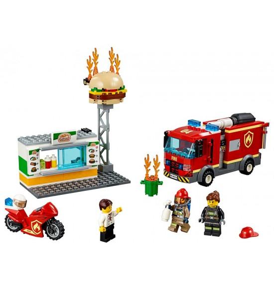 LEGO City 60214 Zásah hasičov vburgrárni