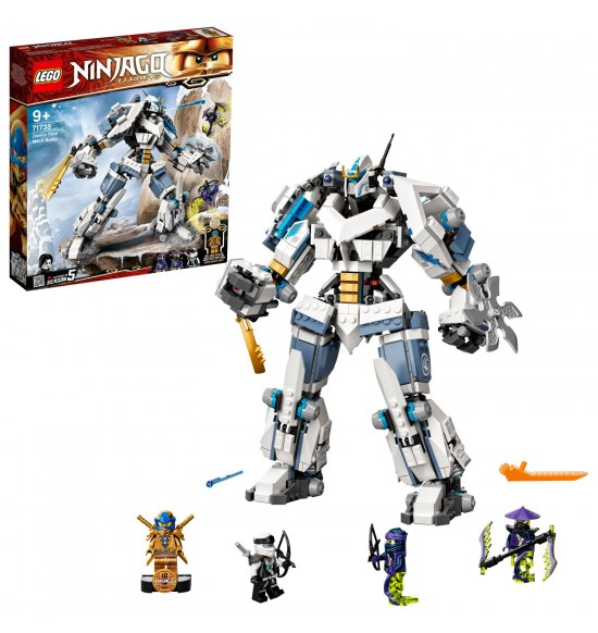 LEGO 71738 Zaneova bitka s titanskými robotmi
