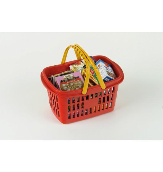 Nákupný košík s maketami potravín
