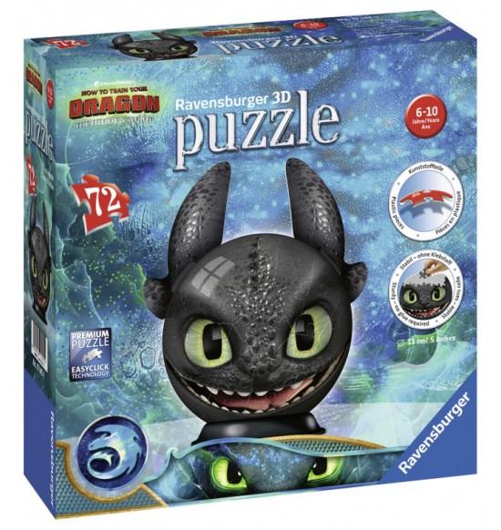 Puzzle-Ball Ako si vycvičiť draka 3: Bezzubý 72 d.