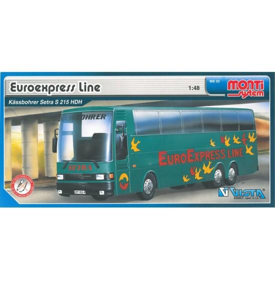 Stavebnice Monti 33 Euroexpress Line-Bus Setra