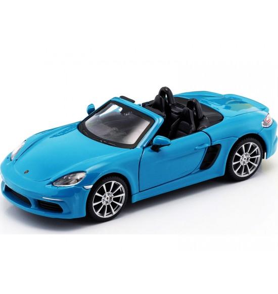 Bburago 1:24 Plus Porsche 718 Boxster Blue