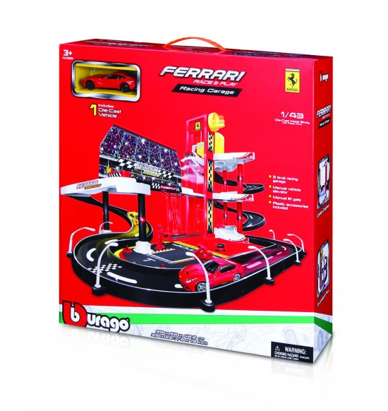 Bburago 1:43 Ferrari Race & Play garáž s jedným autíčkom 30197