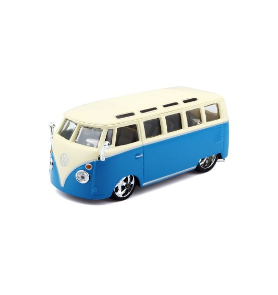 Bburago 1:32 Plus Volkswagen Van Samba Blue/White