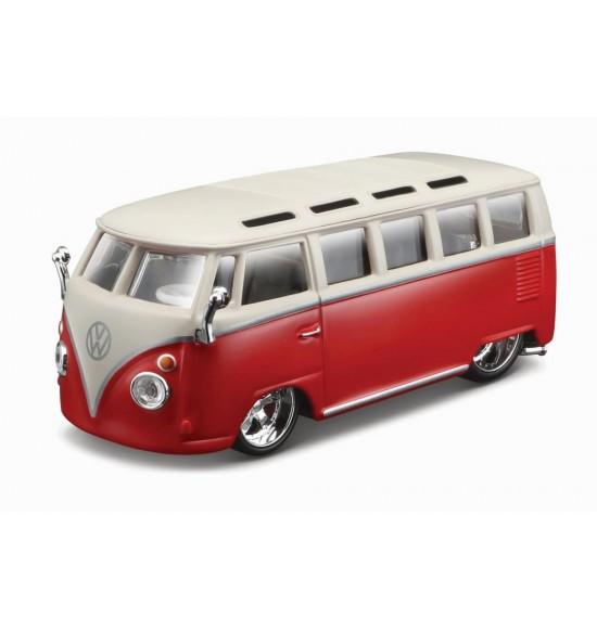Bburago 1:32 Plus Volkswagen Van Samba Red
