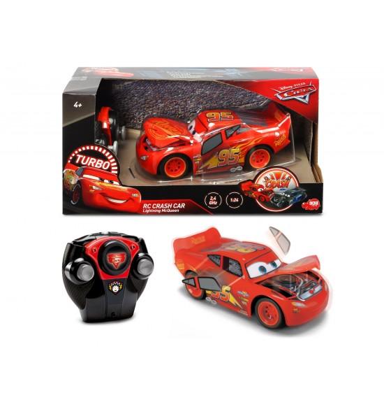 RC Cars 3 Blesk McQueen Crazy Crash 1:24, 2kan 4006333050336