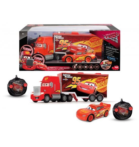 RC Cars 3 Turbo Mack Truck 46 cm, 3kan + Blesk McQueen 1:24, 2kan 4006333054525