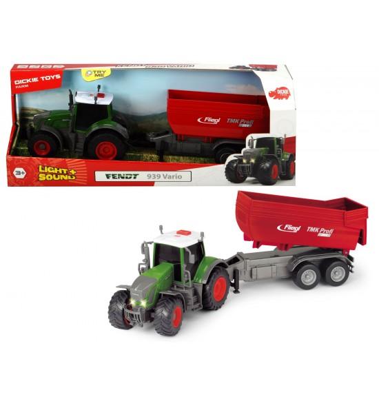 Traktor Fendt 939 Vario s prívesom 41 cm