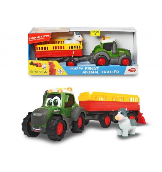 Traktor Happy Fendt s prívesom 30 cm