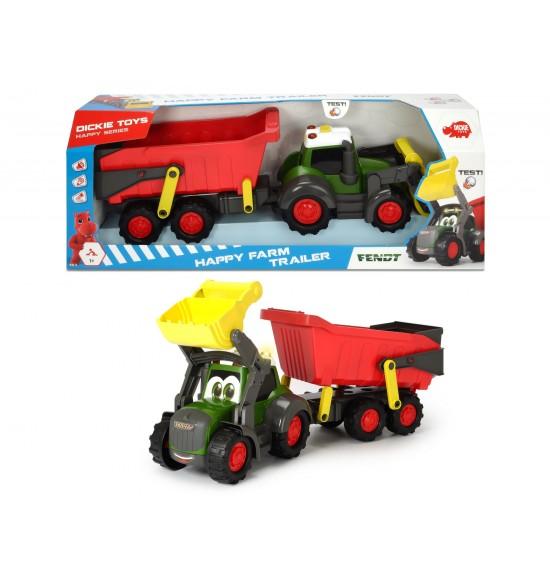 Happy Traktor s prívesom 65 cm