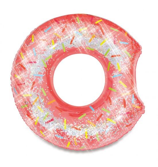 Kruh donut s trblietkami