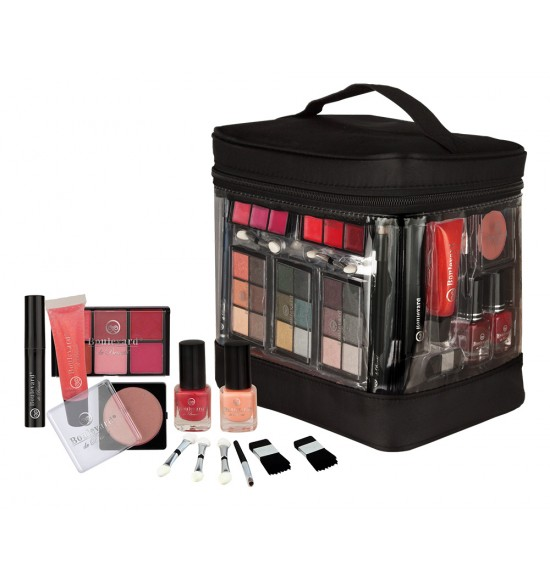Kufrík s dekoratívnou kozmetikou strednou