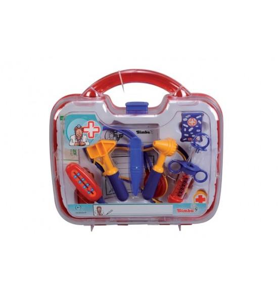 Doktorský kufrík, 10 dielov, 30x28x9 cm