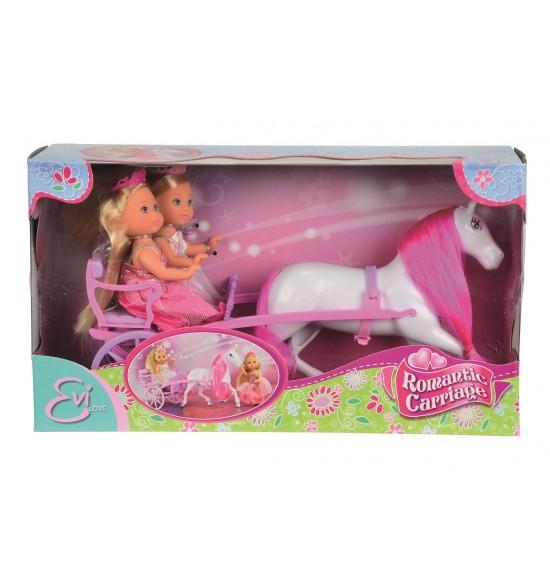 Bábiky Evičky v romantickom kočiari