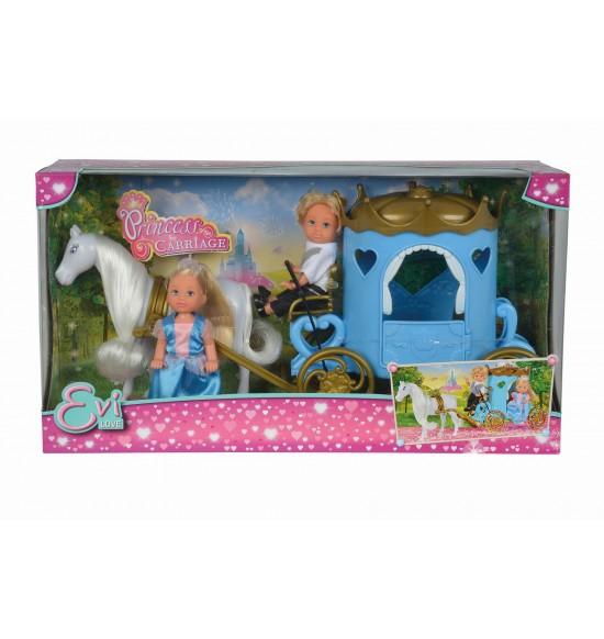 Bábika Evička a Timmy s kočiarom