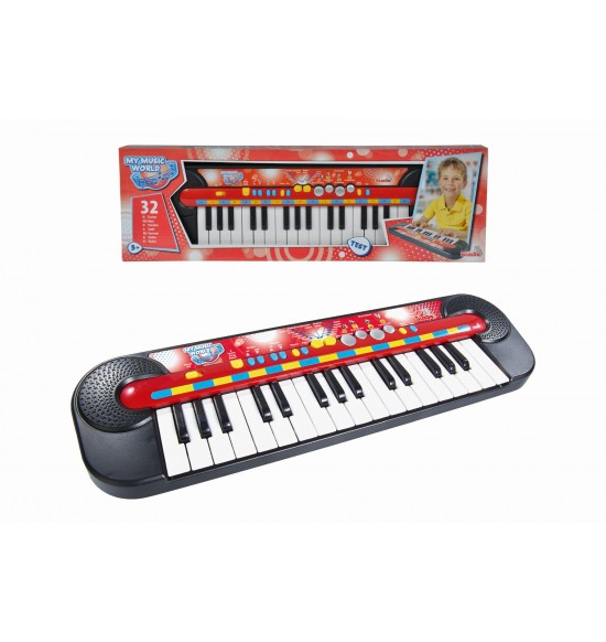 Piano, 32 kláves, 45 x 13 cm, na batérie