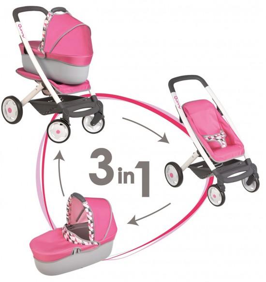 Kombinovaný kočík Maxi Cosi pre bábiky ružový