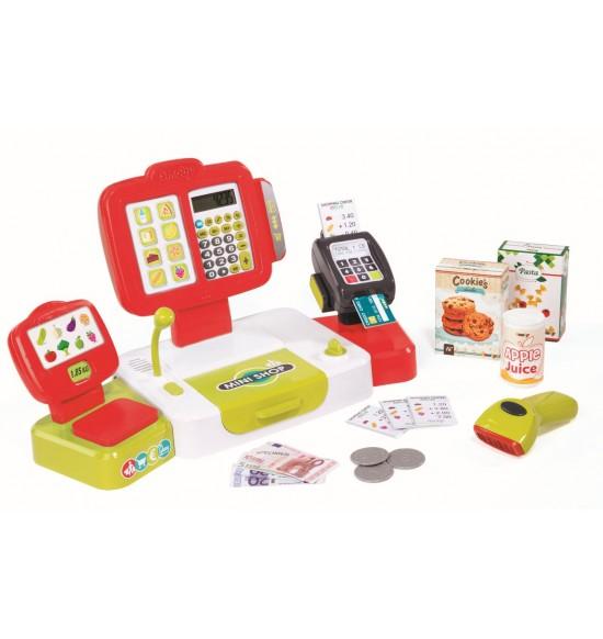 Pokladňa elektronická s váhou červená