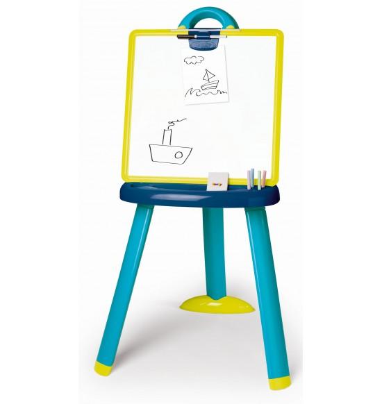 Tabuľa na kreslenie 2v1stojacia modrá 3032164106073