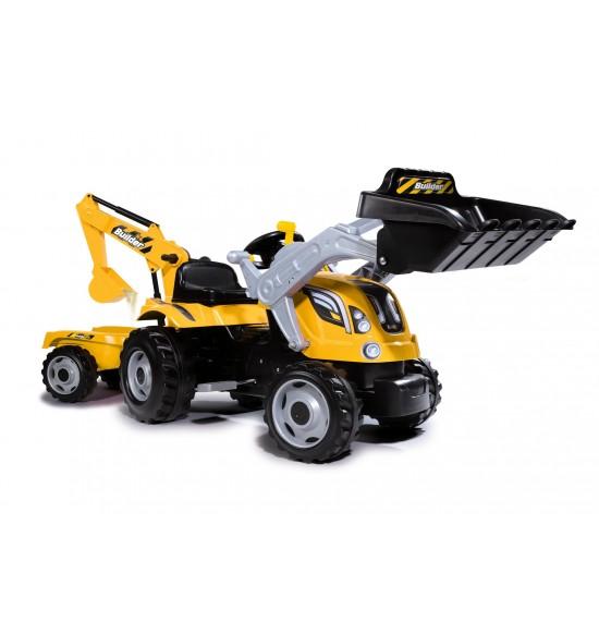 Šliapací traktor Builder Max s bagrom a vozíkom