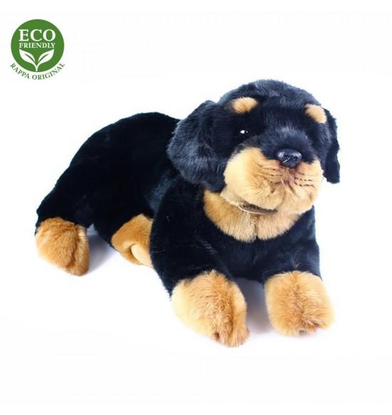 plyšový pes Rotvajler, ležiaci, 38 cm, ECO-FRIENDLY