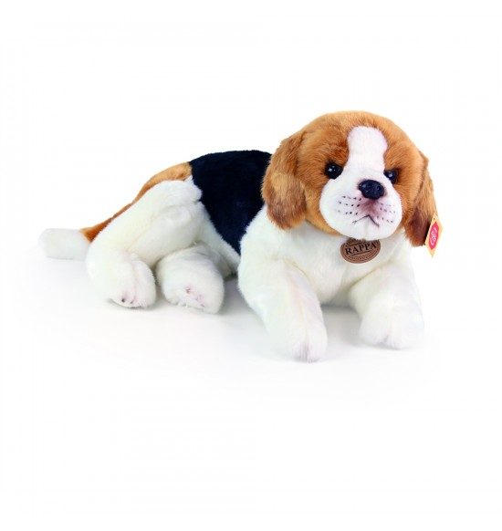 plyšový pes bígl ležiaci, 38 cm
