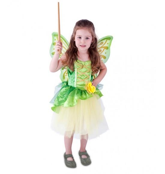 Detský kostým víla Zelenka s krídlami (M)