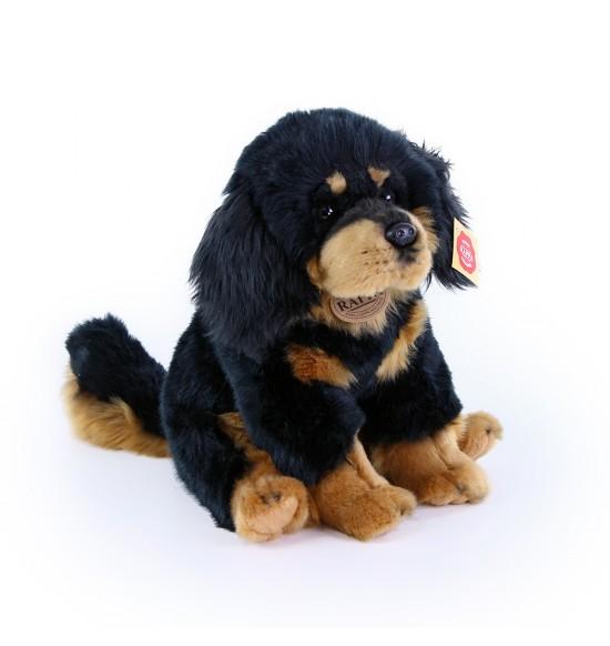 Plyšový pes Tibetská doga - mastiff sediaci, 26 cm
