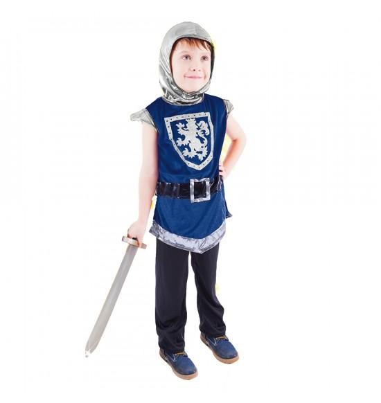 Detský kostým Rytier s erbom modrý (M)