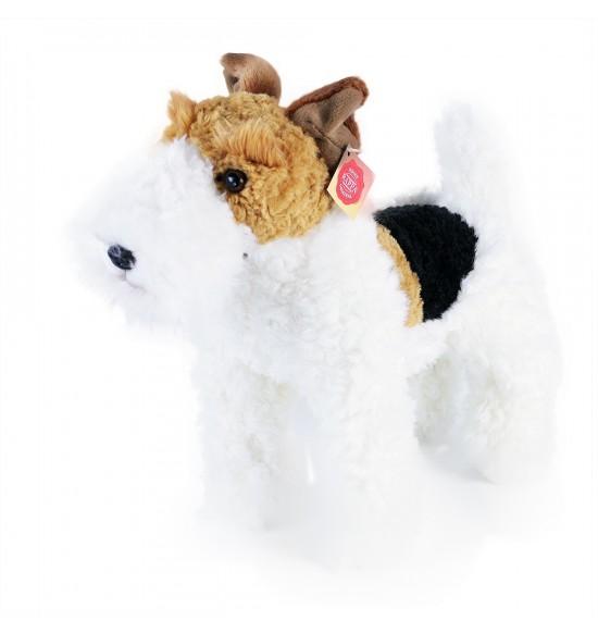 plyšový pes foxteriér Dášenka stojaci, 30 cm