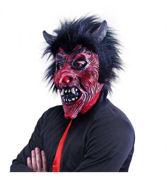 Maska čert s vlasmi, dospelá