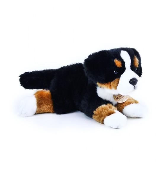 plyšový pes salašnícky ležiaci, 30 cm