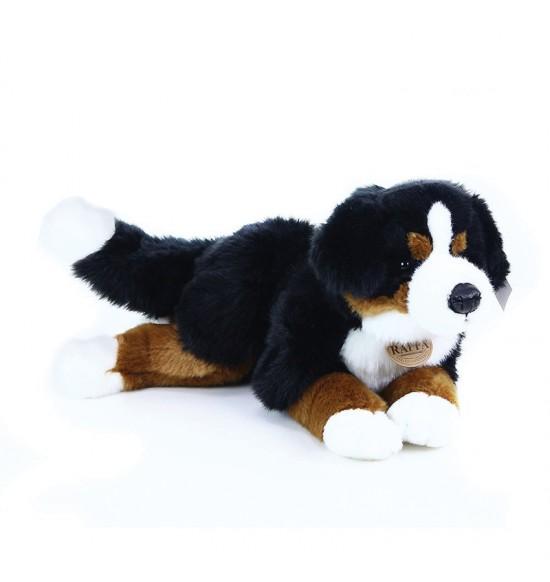 Plyšový bernský salašnícky pes ležiaci, 44 cm
