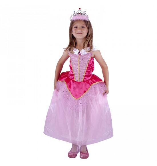 Detský kostým Princezná ružová (M)