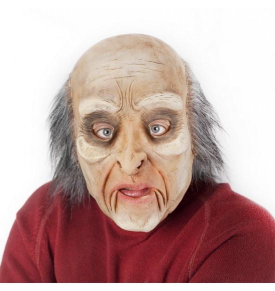 Maska muž / čarodejník s vlasmi a pohyblivou mimikou