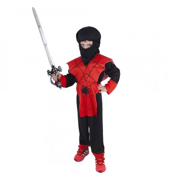 Detský kostým Ninja červený (M)