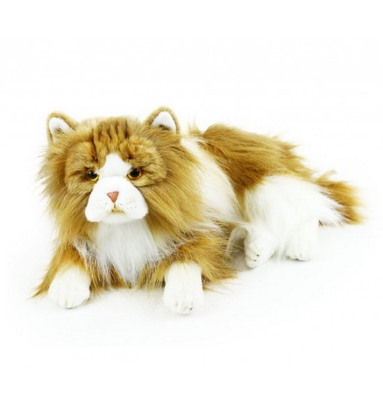 plyšová mačka perzská ležiace, 35 cm