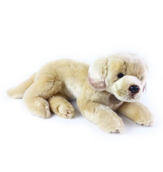 plyšový pes labrador ležiaci, 38 cm