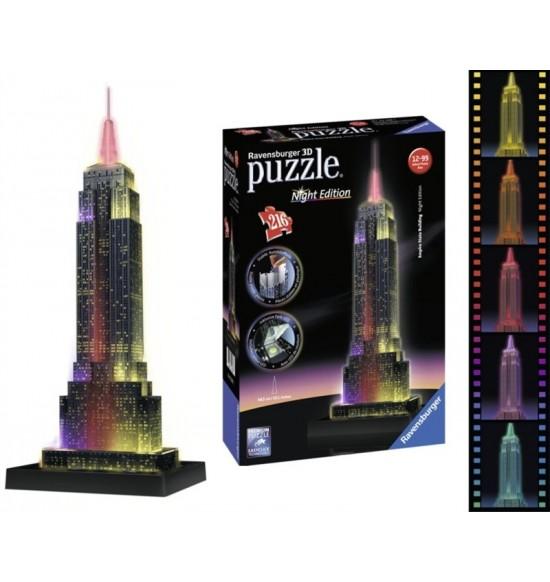 puzzle Empire State Building- Noční edice 3D 216p