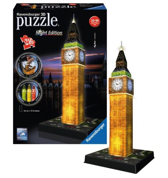 puzzle Big Ben Noční Edice 3D 216d