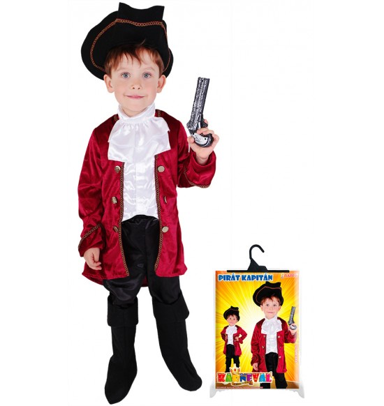 karnevalový kostým kapitán Hook, veľ. S