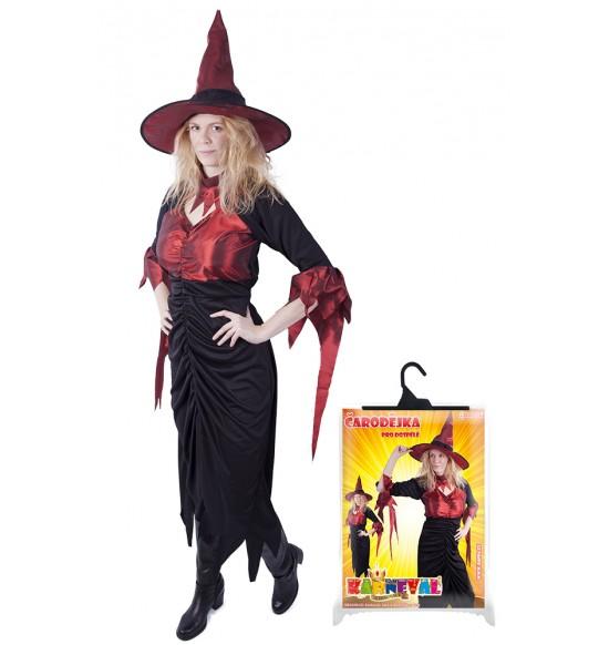 karnevalový kostým čarodejnica pre dospelých, veľ. M