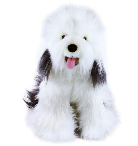 plyšový pes ovčiarsky - bobtail, 30 cm