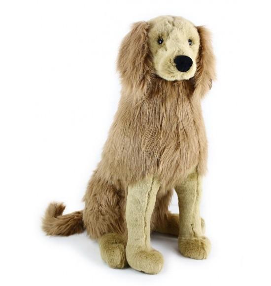 plyšový pes zlatý retriever sediaci 63 cm