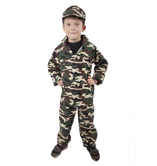karnevalový kostým ARMY - vojak, detský, veľ. M
