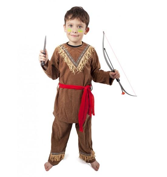 karnevalový kostým indián, detský, veľ. S