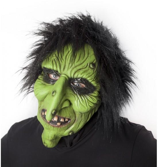 maska čarodejnice zelená