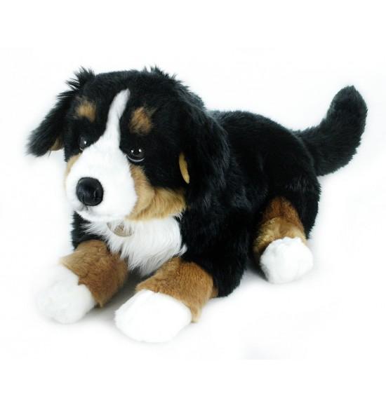 plyšový pes salašnícky ležiaci, 61 cm